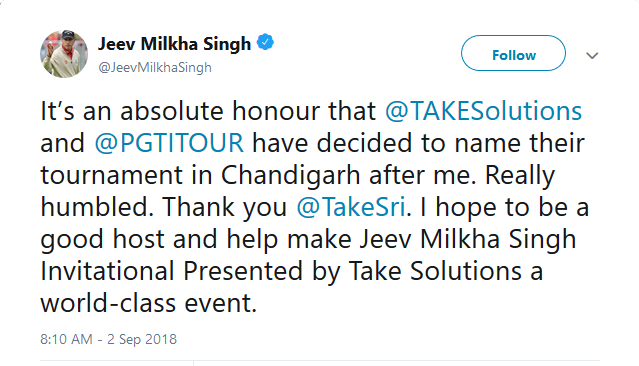 Jeev Tweet about new tournament named after him